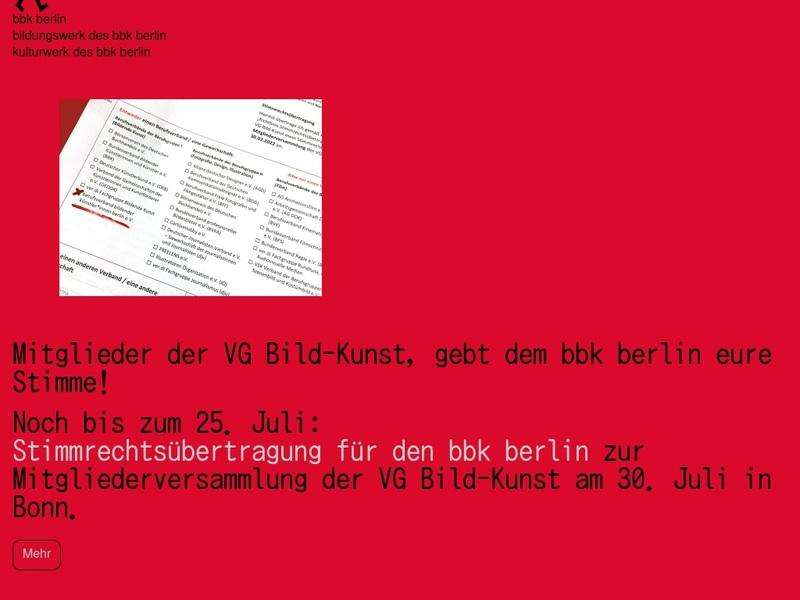 Screenshot von http://www.bbk-berlin.de/